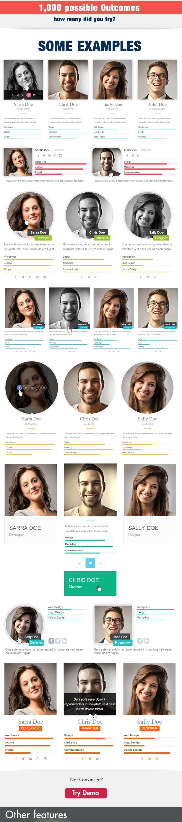 Team Showcase for Visual Composer WordPress Plugin - 4